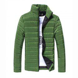 Men's Regular Padded Coat Chinoiserie Plus Size Solid Cotton Cotton Long Sleeves Coat -