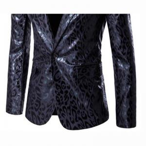 Men's Casual Plus Sizes Print Long Sleeve Regular Blazer -