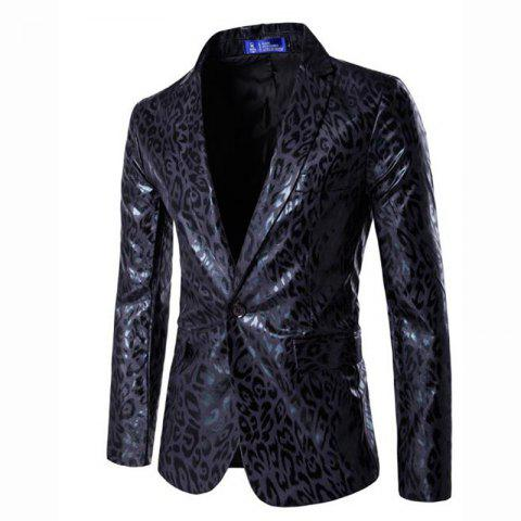 Fashion Men's Casual Plus Sizes Print Long Sleeve Regular Blazer