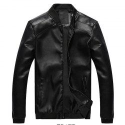 Men's New Fall Winter Leather Coat -