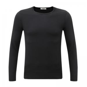 Men's Sports Casual Daily Work Simple Active Chinoiserie Regular Pullover Solid Round Neck Long Sleeves Cotton Winter T-shirt -