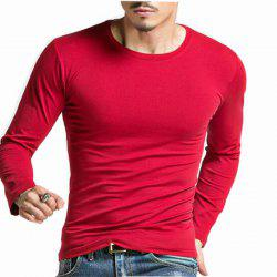Men's Plus Size Striped Patchwork White Navy Blue T-shirt Casual Slimming Crew Neck Long Sleeve -