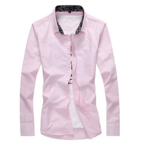 Unique Men's Plus Size Casual Daily Simple All Seasons Shirt Solid Stand Long Sleeves