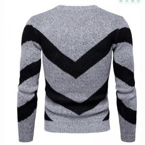 Men's Casual Daily Plus Size Simple Regular Pullover Color Block Round Neck Long Sleeves Cotton Polyester Sweater -