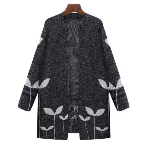 Unique Plus Size Casual Daily Work Vintage Simple Street chic Long Cardigan