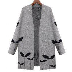 Plus Size Casual Travail quotidien Vintage Simple Street Chic Cardigan long -