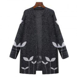 Plus Size Casual Daily Work Vintage Simple Street chic Long Cardigan -