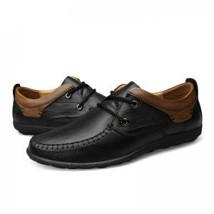 New Genuine Leather Mens Autumn Fashion Soft Bottom Business Casual Shoes -