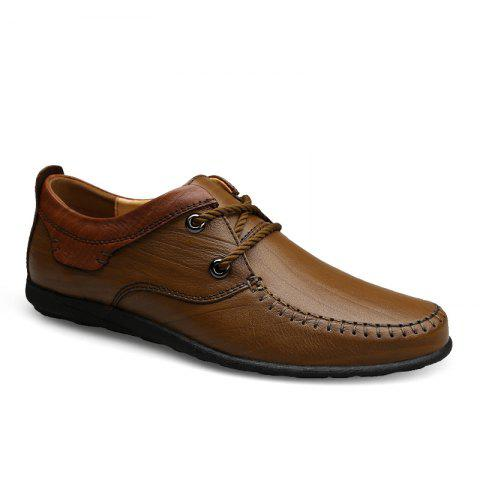 Shop New Genuine Leather Mens Autumn Fashion Soft Bottom Business Casual Shoes