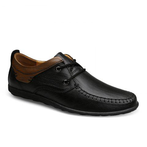 Online New Genuine Leather Mens Autumn Fashion Soft Bottom Business Casual Shoes