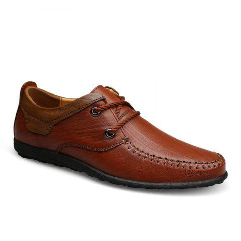 Discount New Genuine Leather Mens Autumn Fashion Soft Bottom Business Casual Shoes