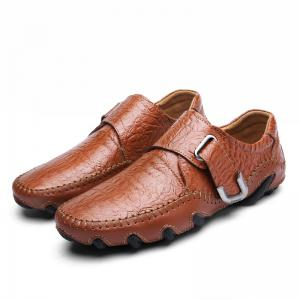 New Style Men Hook Loop Genuine Leather Oxfords Formal Business Shoes -