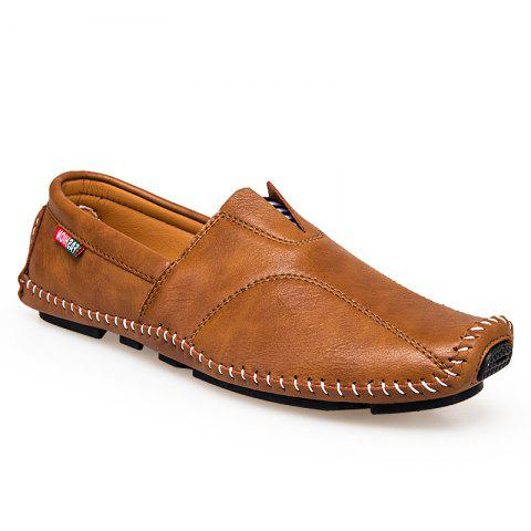 Affordable Big Size Men Leather Slip On Driving Moccasin Loafer Casual Comfortable Shoes