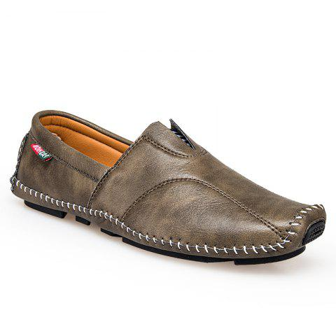 New Big Size Men Leather Slip On Driving Moccasin Loafer Casual Comfortable Shoes