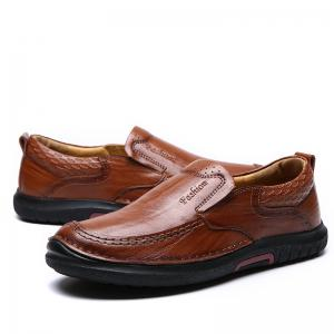 British Style Men Causal Genuine Leather Slip On High Quality Outdoor Shoes Zapatos Hombre -