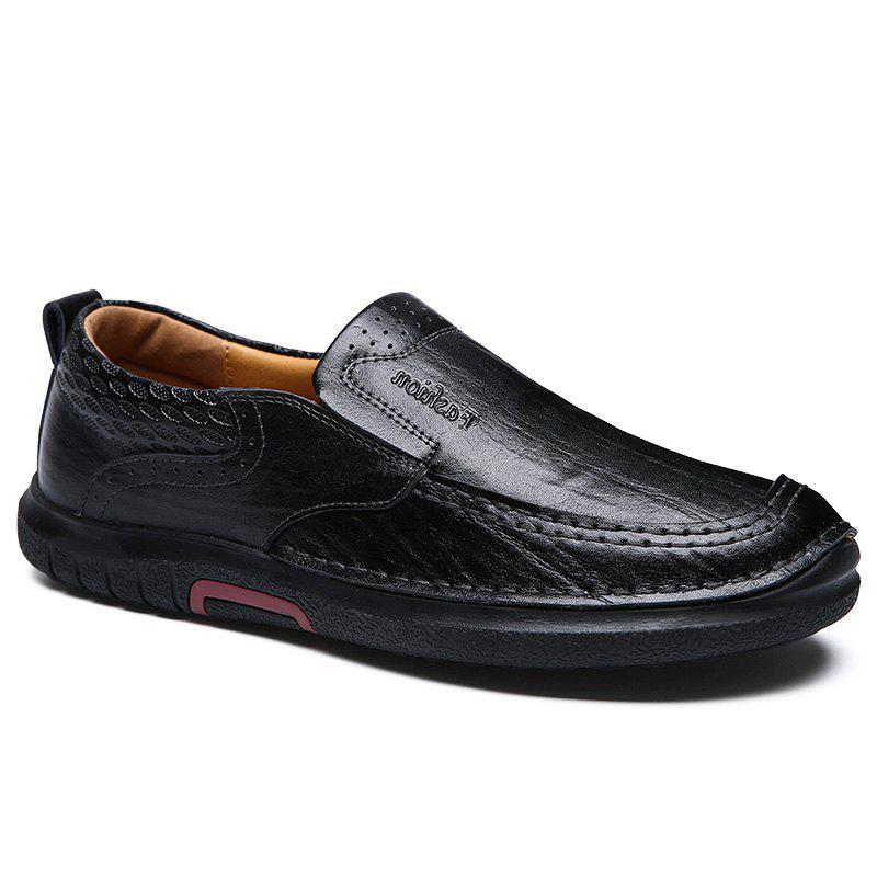 Sale British Style Men Causal Genuine Leather Slip On High Quality Outdoor Shoes Zapatos Hombre