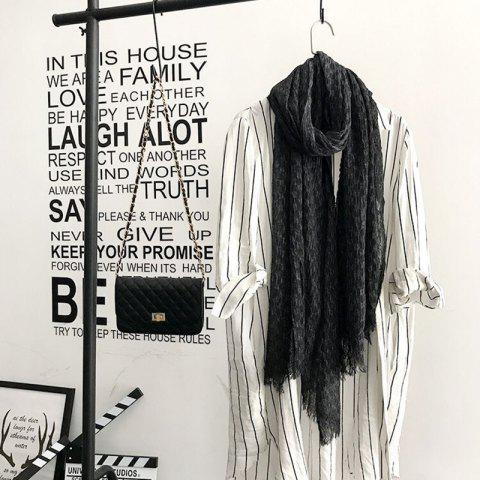 Shops The Spring and Autumn New Europe Do Pure Cotton Towel Broken Edges Widened Beggar Scarf