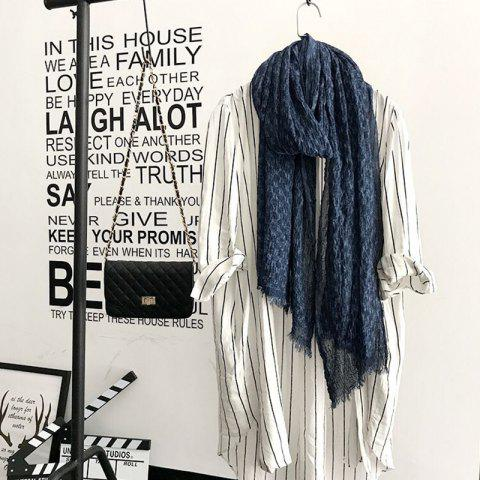 Fancy The Spring and Autumn New Europe Do Pure Cotton Towel Broken Edges Widened Beggar Scarf