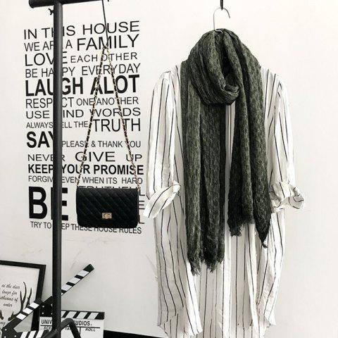Store The Spring and Autumn New Europe Do Pure Cotton Towel Broken Edges Widened Beggar Scarf