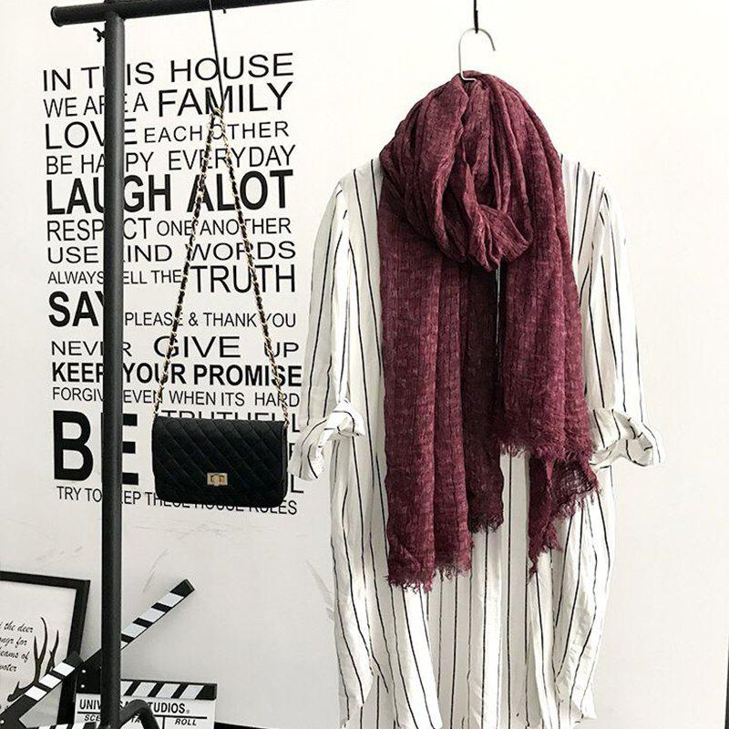 Buy The Spring and Autumn New Europe Do Pure Cotton Towel Broken Edges Widened Beggar Scarf