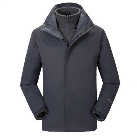 Discount Autumn and Winter Outdoor Jackets Thickened Mountaineering Suits and Three Sets of Windproof Warm Andes Men