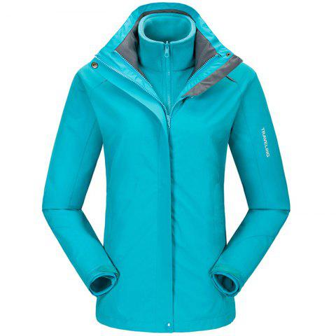 Fashion Autumn and Winter Outdoor Jackets Thickened Mountaineering Suits and Three Sets of Windproof Warm Andes Men