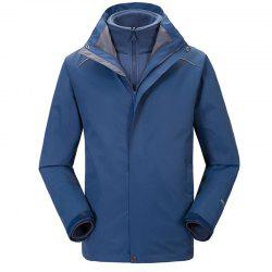 Autumn and Winter Outdoor Jackets Thickened Mountaineering Suits and Three Sets of Windproof Warm Andes Men -