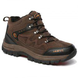 2017 Autumn and Winter Men High Climbing Shoes Male and Velvet Warm Hiking Shoes -