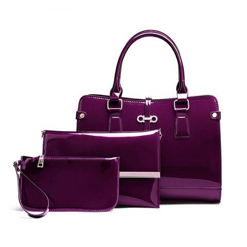 Affordable Three Pieces of New Mother Bag Patent Leather Bright Handbag Lady Diagonal Package