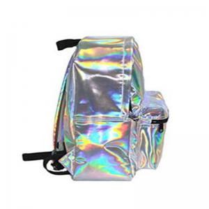 Girl's Silver Hologram Laser Leather School Backpack Travel Casual Daypack -