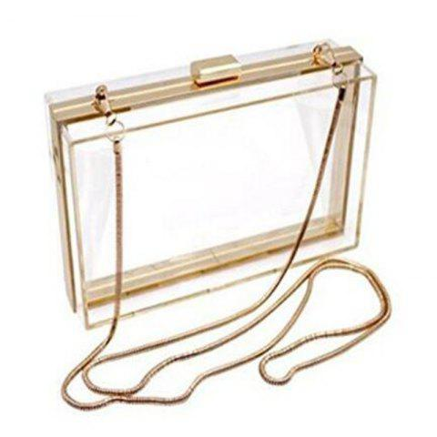 Sale Luxury Acrylic Fashionable Transparent Evening Clutches Shoulder Bags Handbag for Women Ladies Gift Ideal