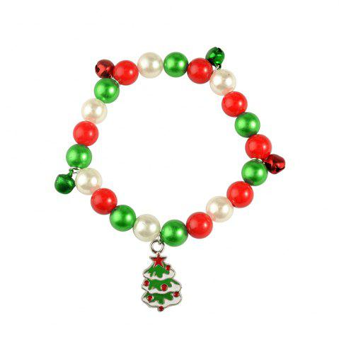 Best Christmas gift bracelet jewelry Santa Claus Elk Pendant Alloy Beads Bangles Jewelry for women Girls