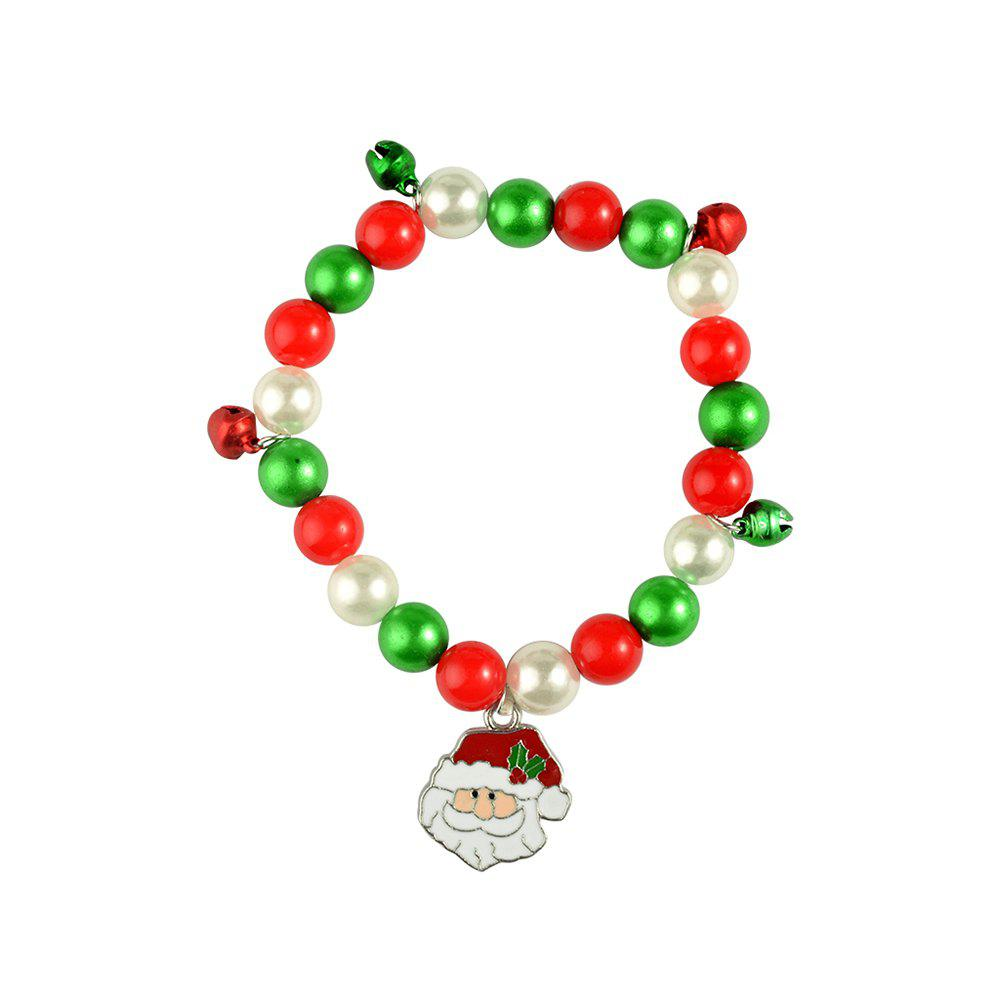 Store Christmas gift bracelet jewelry Santa Claus Elk Pendant Alloy Beads Bangles Jewelry for women Girls