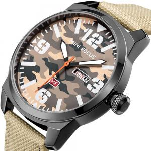 MINIFOCUSI MF0032G 1127 Fashion Trend Band Calendar Nylon Band Men Quartz Watch -