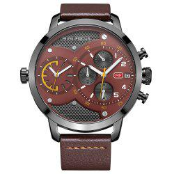MINIFOCUSI MF0030G 1128 Fashion Trend with A Calendar Multipurpose Little Dial Belt Man Quartz Watch -