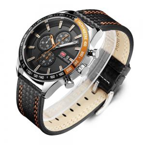 MINIFOCUSI MF0030G 1128 Business Casual Band Calender Belt Man Quartz Watch -