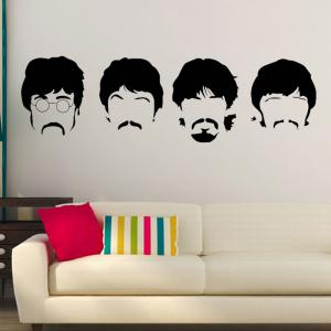 Beatles Wall Decals New Designs Removable Music The Beatles Vinyl Wall Stickers Home Decor -