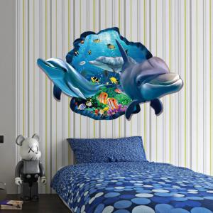 Mixed Color X Cm D Dolphin Underwater Wall Sticker Sea - Underwater wall decals