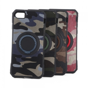 Camouflage Case with Finger Ring Bracket for iPhone 8/7 -