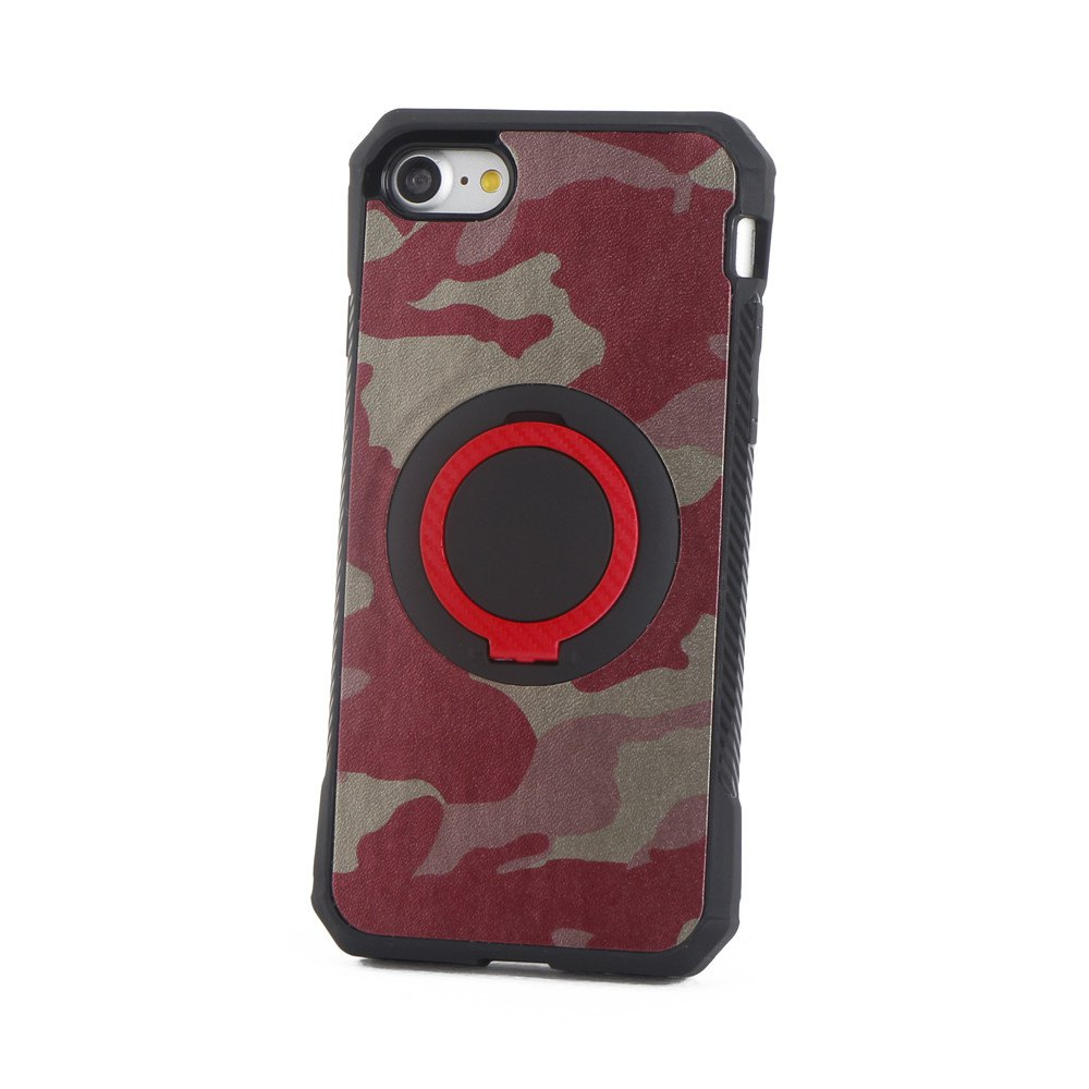 Discount Camouflage Case with Finger Ring Bracket for iPhone 8/7