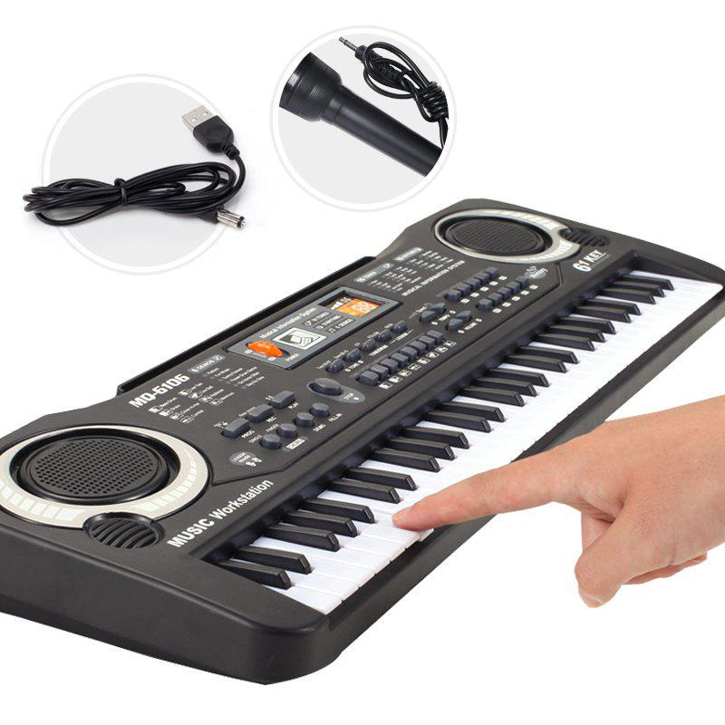 Discount Multi-function 61 Keys Keyboard Electronic Organ with Microphone Music Simulation Piano Children Toys