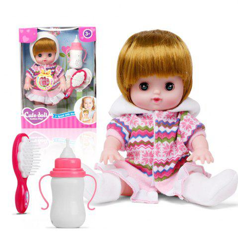 Hot Electric Voice Bottle Dolls Laugh Cry Baby Girl Toys