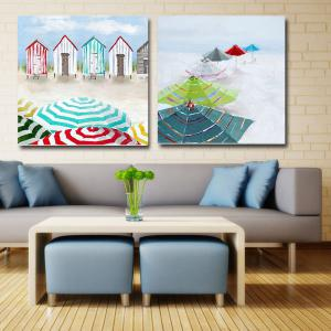 ... Happy Art Handed Canvas Modern Abstract Seascape Oil Painting Art ...