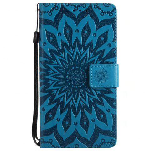 Discount Pure Color Sunflower Pattern Leather for Wiok Lenny 4