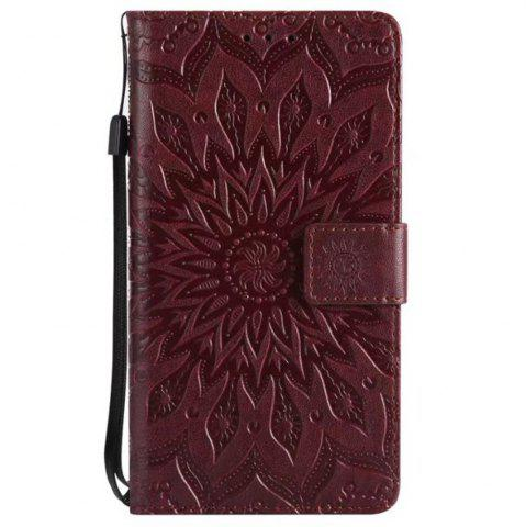 Best Pure Color Sunflower Pattern Leather for Wiok Lenny 4
