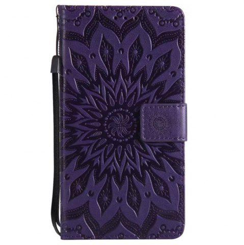 Cheap Pure Color Sunflower Pattern Leather for Wiok Lenny 4