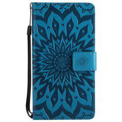 Pure Color Sunflower Pattern Leather for Wiok Lenny 4 -