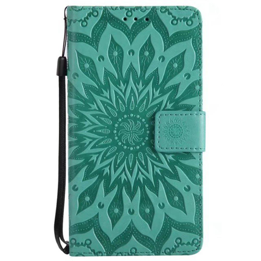 Online Pure Color Sunflower Pattern Leather for Wiok Lenny 4