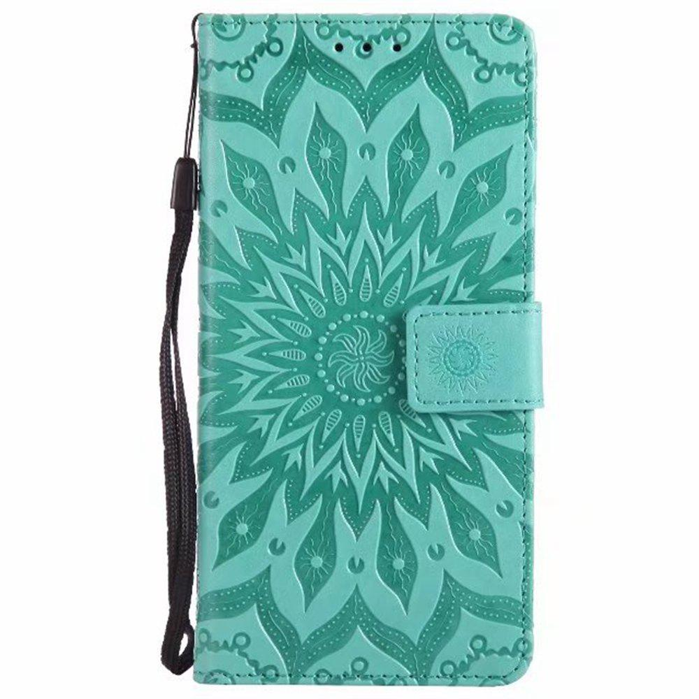 Online Pure Color Sunflower Pattern Leather for Xiaomi 5X