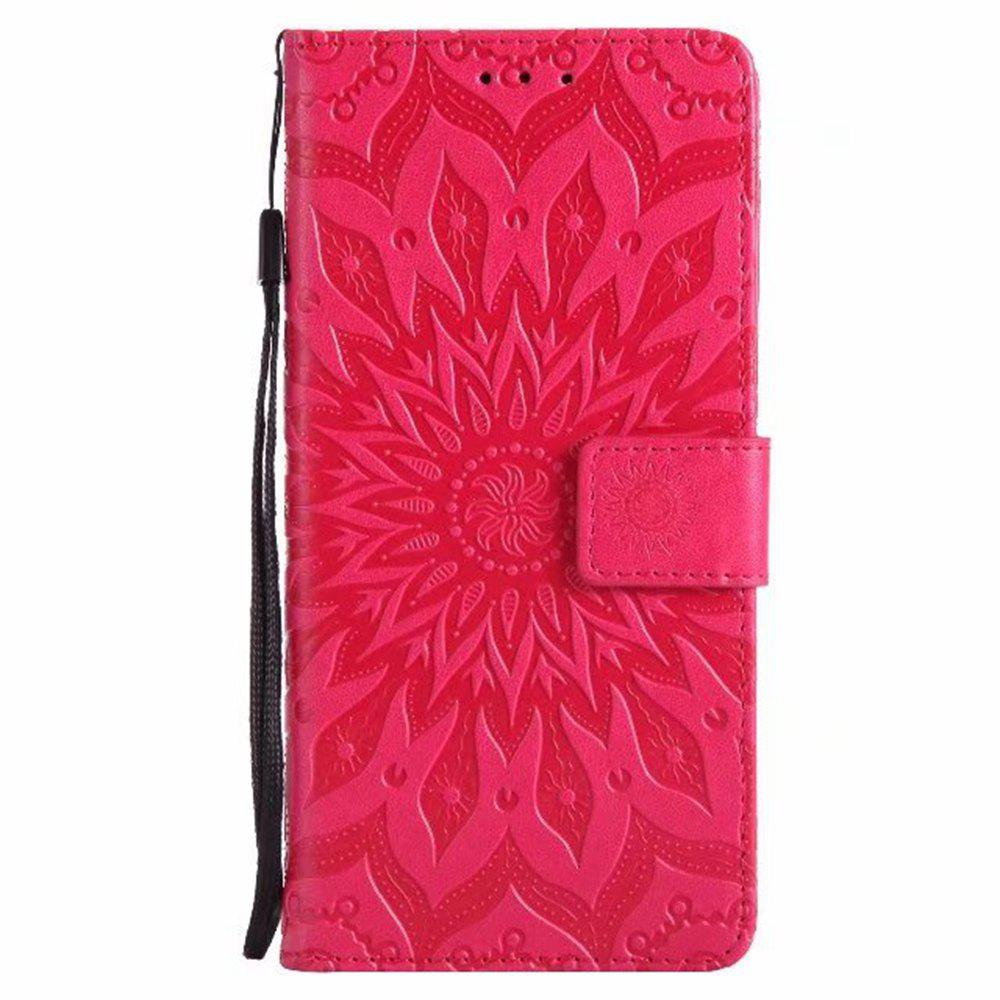 Outfits Pure Color Sunflower Pattern Leather for Xiaomi 5X